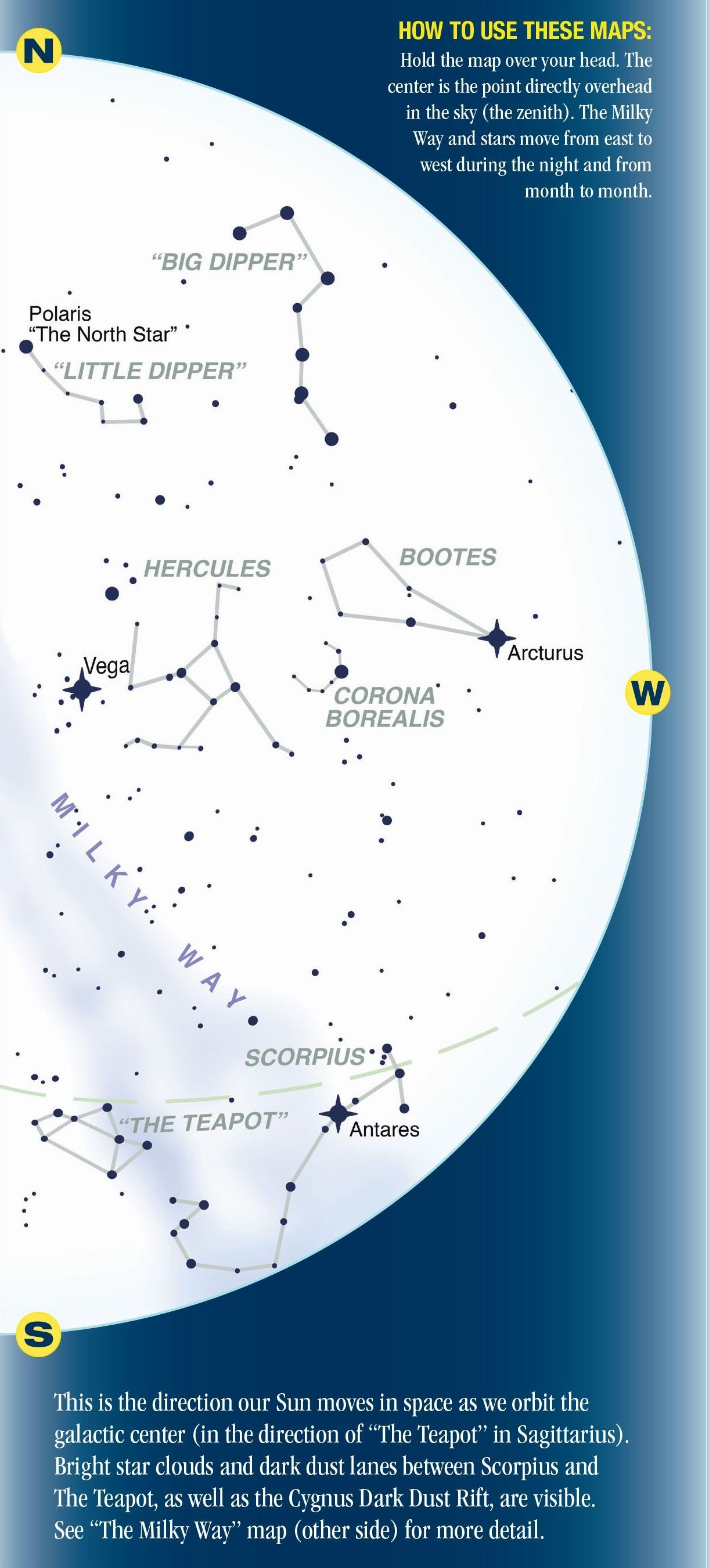 Night Sky A Guide To Our Galaxy Quick Reference Publishing - Night sky map now